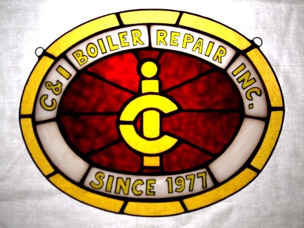 Custom Business Logo in Stained Glass