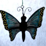 3D Butterfly Teal & Yellow