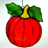 Pumpkin Sun Catcher ~ Bright Garden Orange