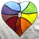 Rainbow Heart Sun catcher
