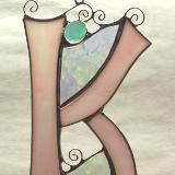 Stained Glass Letter K ~ Any Color ~ Suncatcher
