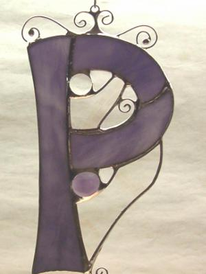 Letter P Suncatcher ~ Any Color
