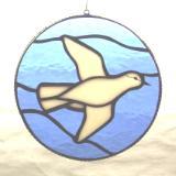 "White Dove Blue Sky 9"" Round"