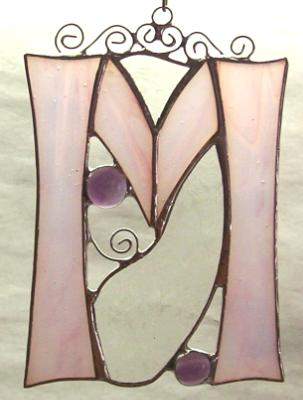 Stained Glass Letter M ~Any Color ~Suncatcher