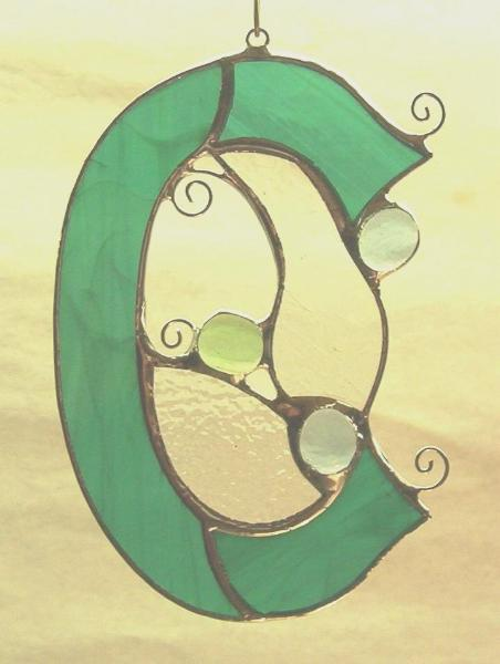 Stained Glass Letter C ~ Any Color