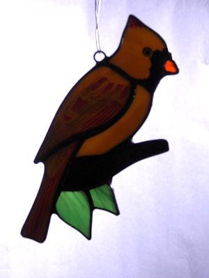 Female Cardinal Sun Catcher