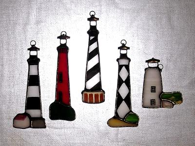 Set of Outer Banks Lighthouse Ornaments