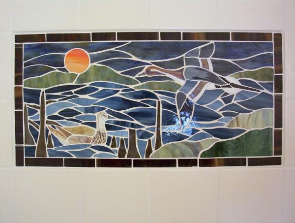Mosaic Pintail Ducks