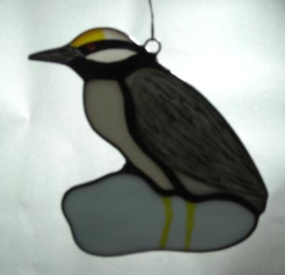 Yellow Crowned Night Heron Sun Catcher
