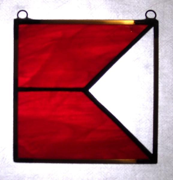 Nautical Flag Sun Catcher Letter B