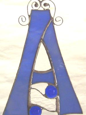 Stained Glass Letter A ~ Any Color