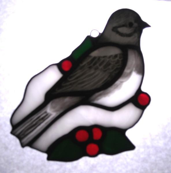 Northern Junco (Snowbird) with Winter Berries