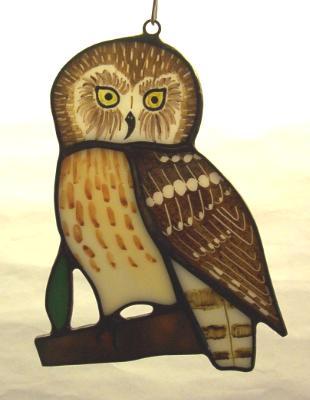 Saw-Whet Owl Suncatcher