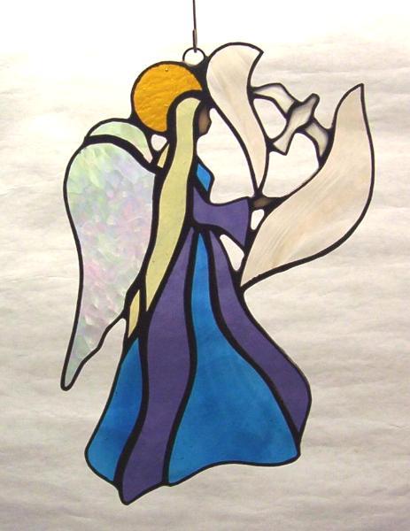 Angel and Dove Suncatcher