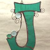 Stained Glass Letter J ~ Any Color
