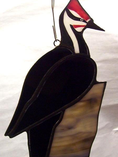 Pileated Woodpecker Suncatcher