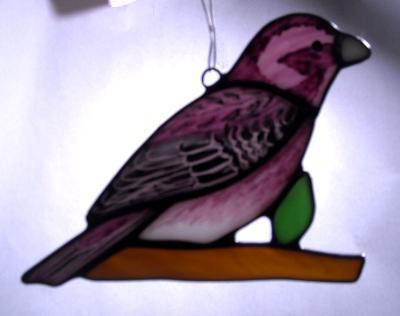 Purple Finch Sun Catcher