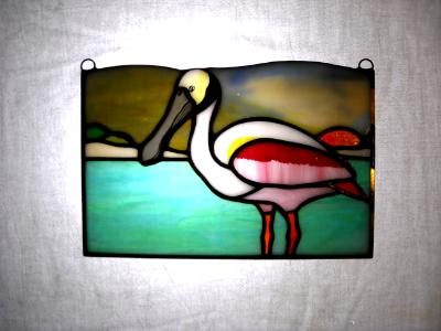 Roseate Spoonbill Sunset Panel