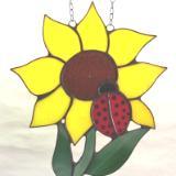 Sunflower & Ladybug Suncatcher