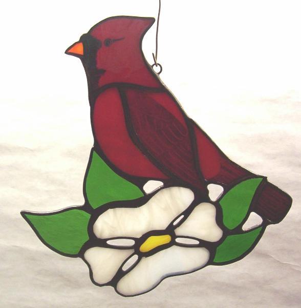 Cardinal in Dogwood Suncatcher