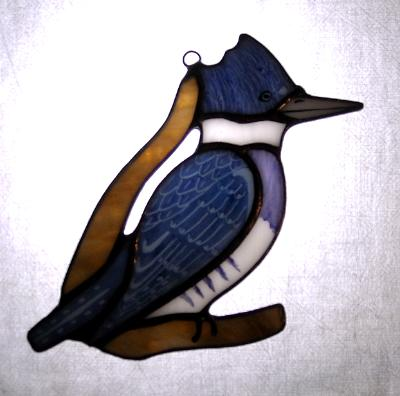 Belted Kingfisher Sun Catcher
