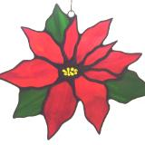 Poinsettia suncatcher