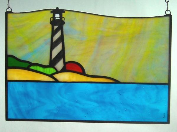 Small Hatteras Lighthouse Sunset Panel