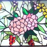 Floral Spray Arch Window