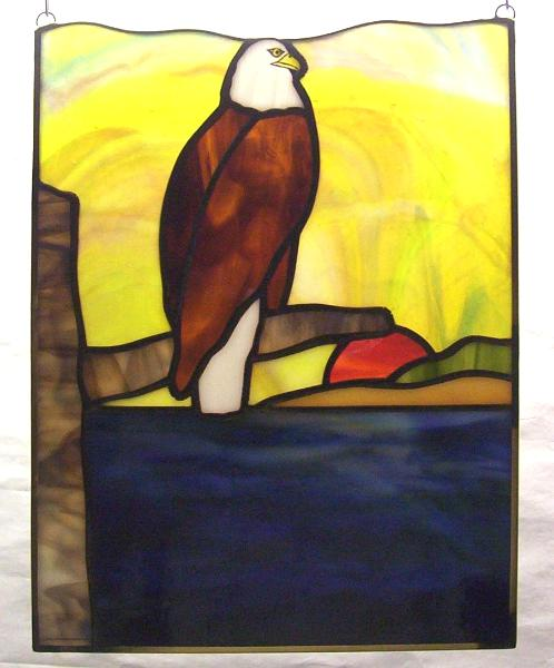 """Bald Eagle Sunset Panel 10"""" by 14"""""""
