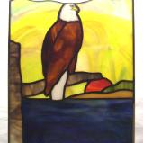 "Bald Eagle Sunset Panel 10"" by 14"""