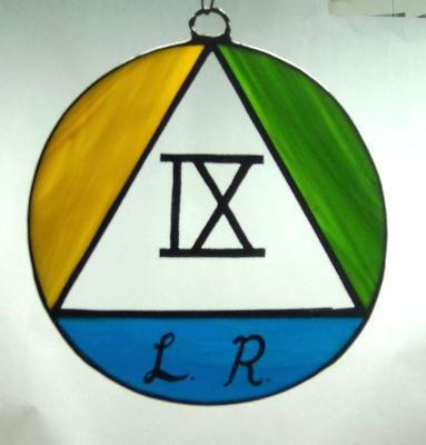 Alcoholics Anonymous Symbol with year and initials