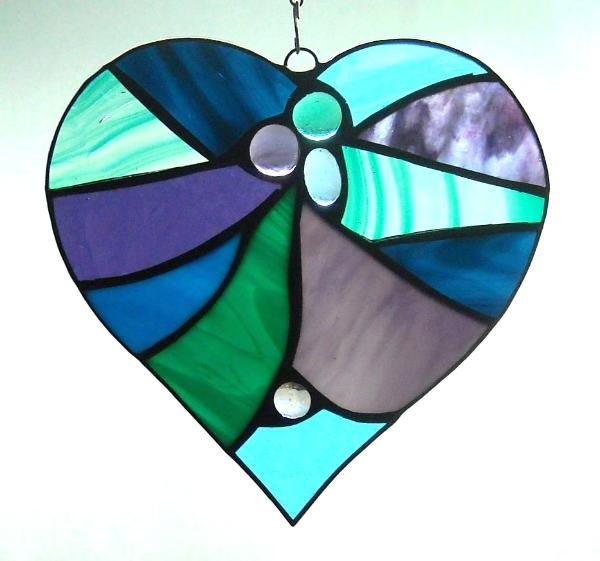 Purple & Teal Abstract Heart