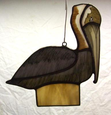 Brown Pelican Suncatcher