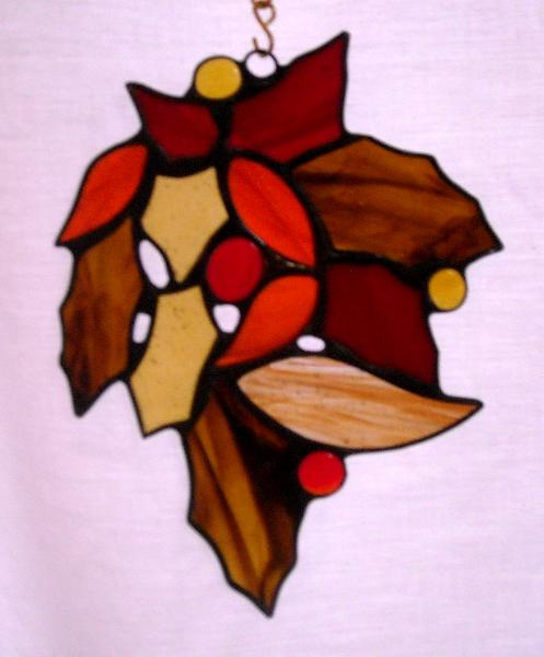 Autumn Leaves  One of a Kind Sun Catcher