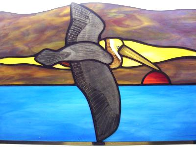 Pelican Sunset Panel