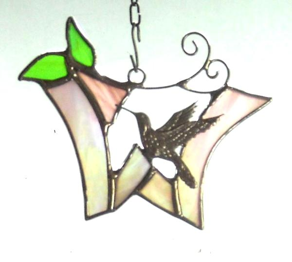 Initial Ornament with Hummingbird ~ Any Letter or Color