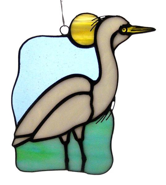 Great White Egret Suncatcher
