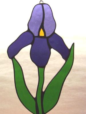Purple Iris Flower Suncatcher