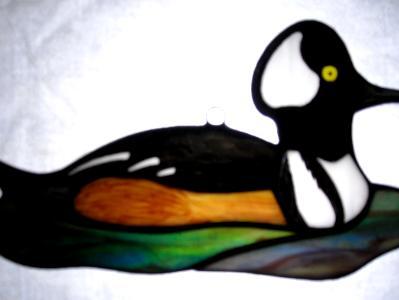 Hooded Merganser Duck Sun Catcher