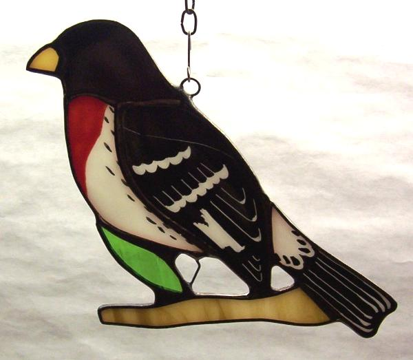 Rose-breasted Grossbeak suncatcher
