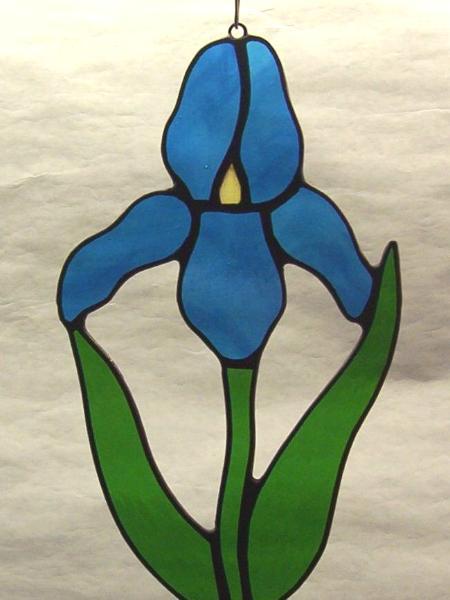 Blue Iris Flower Suncatcher