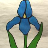 Blue Iris Flower Suncatcher