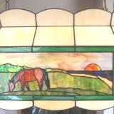 Hanging Lamp with Custom Inserts ~ View 2