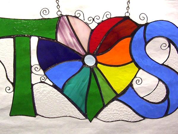 Rainbow Heart with Any 2 Initials