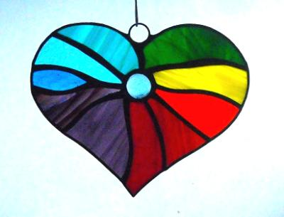 Rainbow Heart Suncatcher