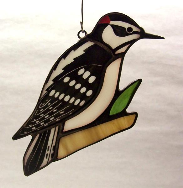 Downy Woodpecker Suncatcher