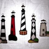Set of OBX Lighthouses 5 Ornaments
